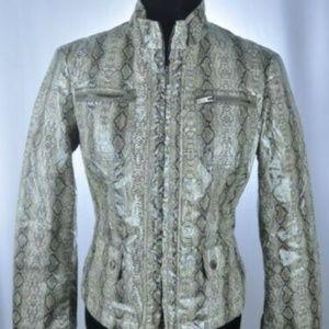 ARMANI Collezioni Snakeskin Print Jacket
